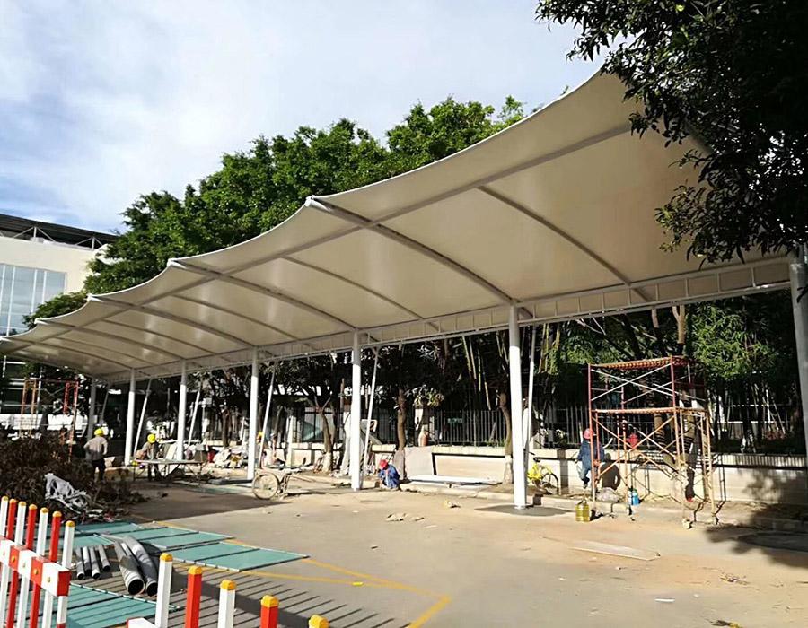 公园充电桩遮阳雨棚